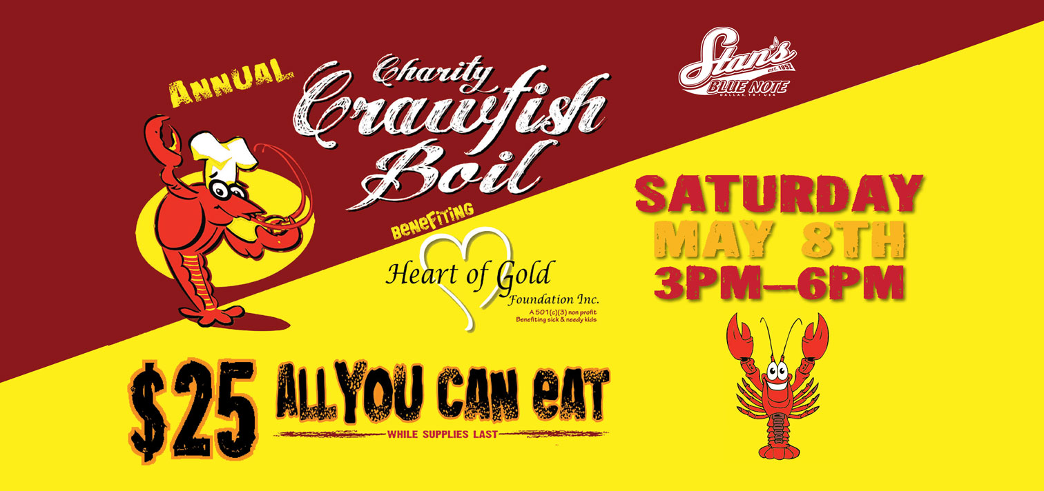 Crawfish Boil Heart of Gold 2021 all you can eat